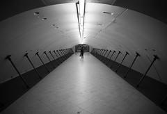 (cherco) Tags: woman tunel tunnel mujer misterio metro metropolitan urban city ciudad silhouette solitario solitary silueta shadow street sombra shadows sofia vanishingpoint light luz moment alone arquitectura architecture aloner arch arco blancoynegro blackandwhite composition composicion canon chica canoneos5diii lonely
