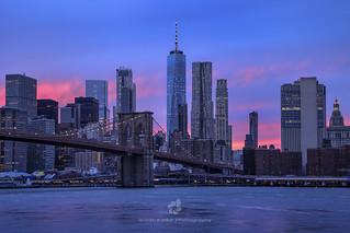Pink Sunset, Manhattan, NYC