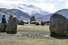 In the moment (Le monde d'aujourd'hui) Tags: inthemoment conciousness resting peace contemplation spiritual stones standingstones stonehenge lakedistrict castlerigg neolithic megolithic cumbria mountains hellvelyn sbow cap peals sitting back chilled cool sun landscape hills circle