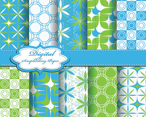 "set of vector flower abstract pattern paper for scrapbook • <a style=""font-size:0.8em;"" href=""http://www.flickr.com/photos/151084956@N05/27815814248/"" target=""_blank"">View on Flickr</a>"