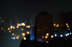 Bokeh and Silhouette (www.adrianosobralfotografias.com.br) Tags: adrianosobral adrianosobralfotografia fotografiasorocaba photo photographer sorocaba bokeh portrait lights shadow cityscape citylights city night art fineart nikon colours