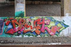 Draft (NJphotograffer) Tags: graffiti graff new jersey nj trackside rail railroad bridge draft cdc crew