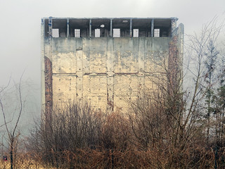 Factory building in decay in Poznan, Poland