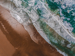 How the waves kiss the shore! (ashpmk) Tags: ocean oceanography pacificnorthwest pacific pacificcoast pacificocean waves aerial coast westcoast gopro karma