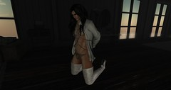 Stop......Please Don't..... (Sio Skytower) Tags: second secondlife boots crossdress chained cuffed avatar andro androgynous