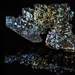 Bismuth on black with reflections thumbnail