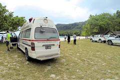 Vanuatu Ambulance (CooverInAus) Tags: champagne bay beach espiritu santo vanuatu ambulance paramedic kawasaki north rotary club luganville promedical japanese donation toyota van