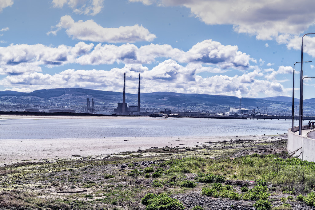 THE POOLBEG STACKS [AS SEEN FROM CLONTARF ROAD IN DUBLIN]-139842