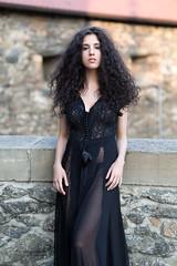 Hair! (piotr_szymanek) Tags: daria portrait outdoor woman milf young skinny longhair curlyhair dress blackdress face eyesoncamera castle czocha bridge transparent 1k 20f 50f 5k 10k 100f