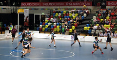 Korfball (peterphotographic) Tags: img7553edwm canon g15 ©peterhall korfball copperbox olympicpark queenelizabetholympicpark stratford eastlondon london england uk britain sport sportsphotography highbury londonkorfball shoot score goal