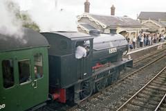 WD Austerity 0-6-0ST at Cranmore Station, 28 Jul or 3 Aug 1985 (Ian D Nolan) Tags: railway prinzflashmaticgt7 35mm epsonperfectionv750scanner esr station cranmorestation 060st