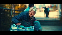 Cinematic Series #12 (Laser Kola) Tags: streetphotography cinematic cinematicseries smoking oldpeople lady oldlady granny kioto japan kyoto canon canon5dmkii 100mm 100m canonef100mf2 cinematographer cinematography 2014 lasseerkola laserkola streetphoto anamorphic urban urbanlife urbanphotography shallowdepthoffield dof depthoffield bokeh smoothbokeh cinema woman 京都市 ストリート sunset exploring wrinkles wrinkly