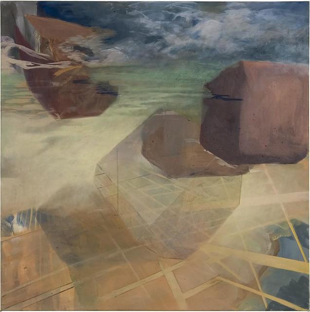 Chig, 100 x 100 cm, Acryl/Pigmente auf Nessel, 2009