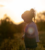 Flare girl (Bai R.) Tags: girl child childhood joy sunset light golden flare