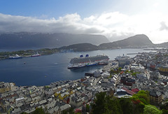 Good Evening from Ålesund town (Mrs.Snowman) Tags: ålesund aalesund town cruiseship pocruises brittania may westernnorway norway