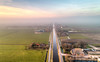 Village of Burgerbrug, The Netherlands. (Alex-de-Haas) Tags: burgerbrug dji dutch fc6310 grotesloot holland nederland nederlands netherlands noordholland aerial aerialphotography air boerenland cirrus drone fog landscape landschaft landschap lucht meadows mist polder skies sky sundown sunset weilanden winter zonsondergang nl