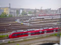 Nürnberg Hbf en Miniature (mikehaui60) Tags: olympuspenepm2 pen epm2 mft affinityminiature railwa trains trainstation miniature tiltshift tiltshiftfake nürnberg bayern germany franken