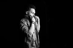 Collar (brendon_curtis) Tags: low key high silhouette portraits bokeh bokehlicious studio moody dramatic calvin klein black white bw 50mm f12 l 1dxii 1dx mark ii eos canon man guy rapper hip hop musician