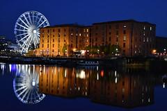 Albert Dock Liverpool (Liam Blundell Photography) Tags: liverpool merseyside albert dock water waterfront buildings big wheel l1 night late evening supershot nightshot