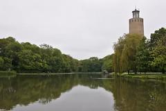 The old water tower (Darkhorse Winterwolf) Tags: architecture belgium belgïe building lake oostende park water watertower