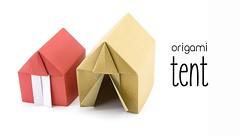 Origami Tent or House Tutorial - Paper Kawaii (paperkawaii) Tags: origami instructions paperkawaii papercraft diy how video youtube tutorial
