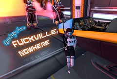 Homecoming (Niri Tries Fashion) Tags: secondlife sl space scifi spaceship station spacestation robot mech spacesuit flight avatar cute
