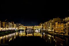 Ponte Vecchio by night (lasse christensen) Tags: dsc2726 italiaitaly firenzeflorence pontevecchio arni river elv