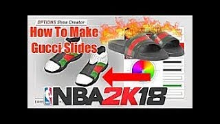 f2168da1be44d3 HOW TO MAKE GUCCI FLIP FLOPS NBA 2K18 (ANY STYLE)