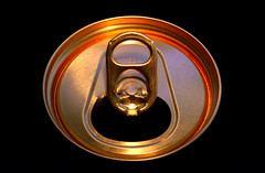 an empty, but nevertheless golden can (HansHolt) Tags: gold golden light beercan tin can metal aluminum staytab tab bierblikje blikje metaal aluminium lipje empty leeg beer bier reflection reflectie texture circle round cirkel macro cheers proost salud santé salute prost skål saude canon 6d 100mm canoneos6d canonef100mmf28macrousm