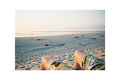 (Julie Stutzman) Tags: oregon beach coast pnw sunset weekend color film contaxt3 analog