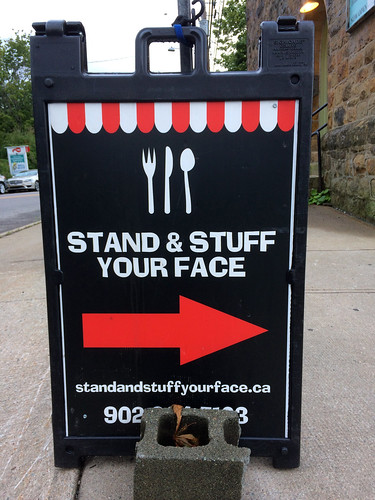 Stand & Stuff Your Face