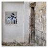Outdoor art (AEChown) Tags: laon france portrait outdoorart outdoor doorway stone wall entrance house girl ponytail