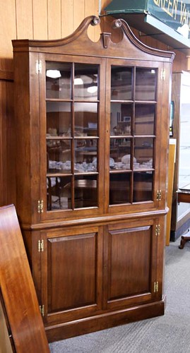 Cherry 16-Pane Corner Cupboard ($420.00)
