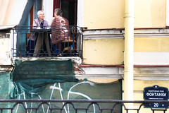Balcony (Mussi Katz) Tags: saintpetersburg balcony sssr ladies talking