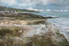 Tide's Out - Lamlash - mixed media 50 x 75 cm (www.sandragraham.co.uk) Tags: artartworkartistartistscontemporaryartcollectorstreambrookburnwaterflowingnaturepaintingartistsimpastopainting beachseascape visitscotland arran lochranza whiskey whisky seascapes