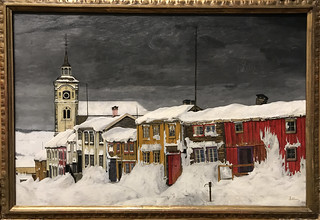 Street in Røros in Winter (1903)