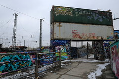 scheiss kommerz (Luna Park) Tags: munich germany graffiti viehhof bahnwaerterthiel lunapark