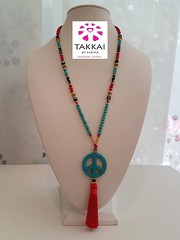Takkai By Karina Peace Necklace (karinapenapr) Tags: bohemian necklace takkaibykarina ibiza peace sign jewelry etsy peacesign boho hippie