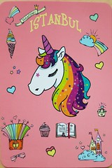 Turkey Unicorn Istanbul (DymphieH) Tags: postcards received unwritten unicorns books pink