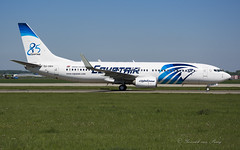 MSR_B738Wgl_SUGEH_85y_AMS_MAY18 (Yannick VP) Tags: civil commercial passenger pax transport aeroplane jet jetliner airliner ms msr egyptair boeing b737 ng nextgen 737ng 737800 wgl winglets sugeh 85years special livery paint amsterdam schiphol airport ams eham netherlands nl europe eu may 2018 taxi taxiway twy aviation photography planespotting airplanespotting