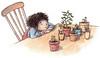 Plant 1 (EmblaEster) Tags: illustration art children watercolor inside plant pots