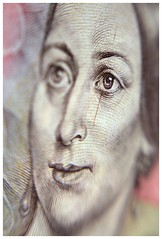 Bozena Nemcova (millr the shootist) Tags: czech banknot detail macro female face historical figure lensbaby selective focus