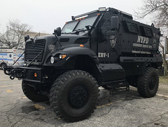 NYPD (New York City Police Department) Emergency Service Unit (ESU) Navistar Defense MRAP (NY's Finest Photography) Tags: highway patrol state nypd fdny ems police law enforcement ford dodge swat esu srg crc ctb rescue truck nyc new york mack tbta chevy impala ppv tahoe mounted unit rema retired emergency man association sod day remembrance 2018