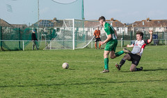 Portishead 1st team v Wincanton (tramsteer) Tags: tramsteer football soccer portishead wincanton tackle somerset