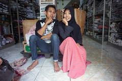 at the bazaar near Ampel mosque (kuuan) Tags: portrait pose shop indonesia voigtländerheliarf4515mm manualfocus mf voigtländer15mm aspherical f4515mm superwideheliar apsc sonynex5n surabaya street java