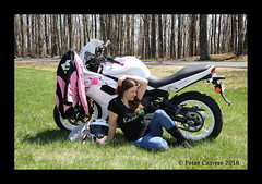During Our Break (Peter Camyre) Tags: peter camyre photography picture pose posing break time photoshoot girl lady bike rider motorcycle pretty beauty beautiful quabbin reservoir canon 5dmkiii portraiture
