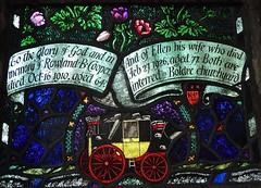Bibury, Gloucestershire - St Mary's Church - Stained Glass (Glass Angel) Tags: bibury gloucestershire stainedglasswindow stmaryschurch