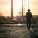 Walking the dog - Turku, Finland - Color street photography thumbnail