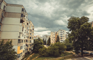 Gloomy clouds over Shumen town...