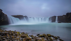 Godafoss (ttrendell) Tags: iceland waterfall godafoss landscape canon lee filter 1635mm 5dmk2 cascade blue rocks big stopper grads water